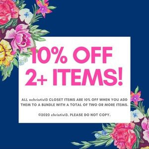 💕🛍 SALE! 10% OFF 2+ ITEMS IN A BUNDLE! 🛍💕